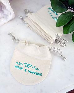 Pochettes en tissu fait main atelier Wrap Vintage coton organique