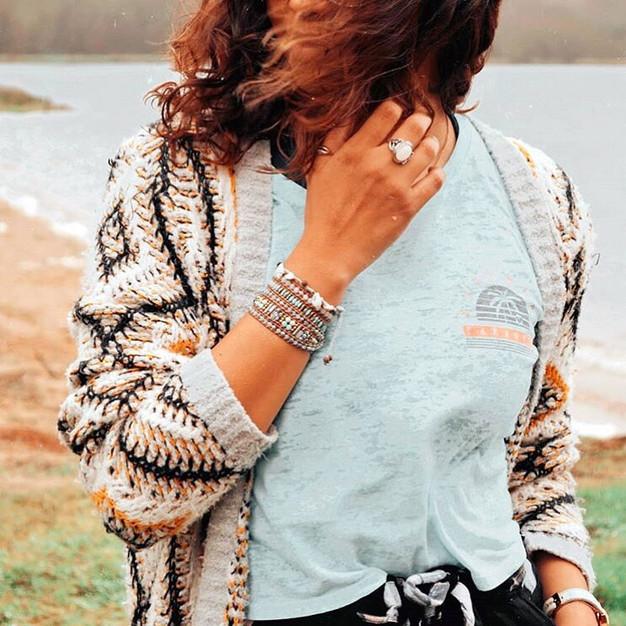 Bracelets Wrap Vintage Nefeli en pierres naturelles