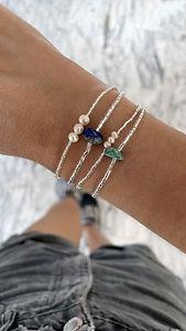 Bracelets Chance Wrap Vintage en pierres naturelles et perles du culture