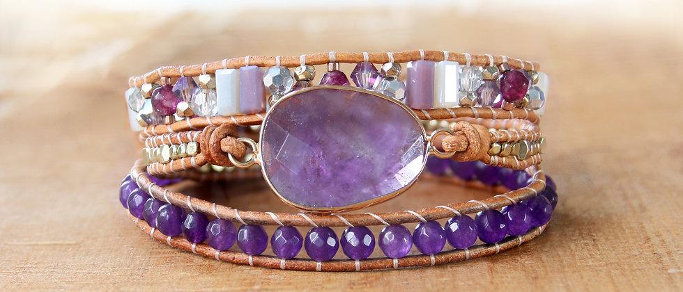 AMETHYST - Bracelet Wrap
