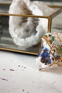 Pierres semi-précieuses naturelles Lapis Lazuli Quartz blanc minéraux lithothérapie