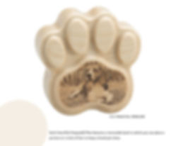 Custom HeartFelt Keepsake Pet Paw Cremation Keepsake