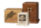 Assortment of Davis Whiteall® Products, Made In The USA, Create-An-Urn, Photo Urn, Bubinga cremation urn