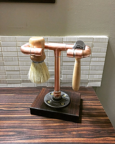 Yakisugi & Copper Shaving Stand