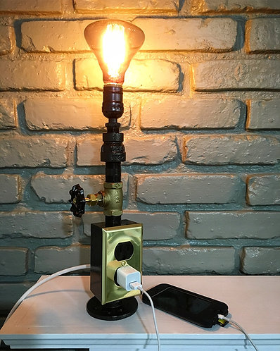 """Not-So-Simple"" Charging Station & Pipe Lamp"