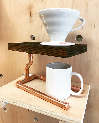 Yakisugi & Copper Pour Over Coffee Stand