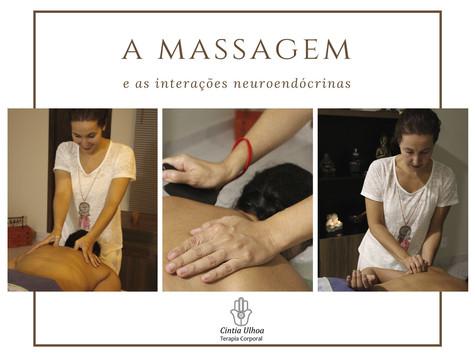 Qual é a  importância da massagem nas interações neuroendócrinas em nosso corpo?
