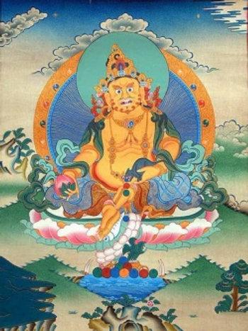 Yellow Jambhala Tangka Big Size