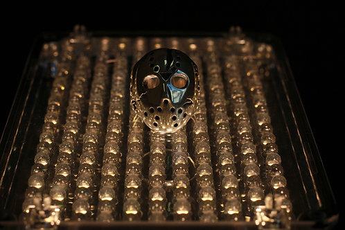 Серебряный перстень с маской Джейсона