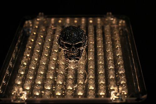 Серебряный перстень с черепом