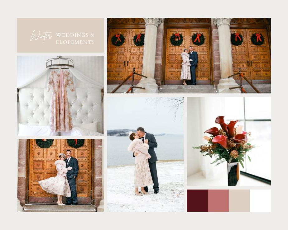 Brown Clean Grid Fashion Moodboard Photo