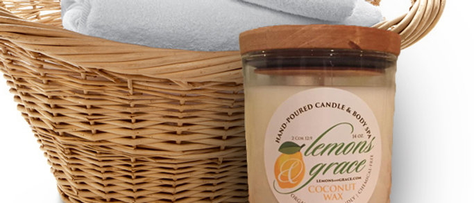 Clean Linen Scented Body Candle