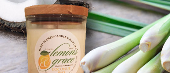 Coconut Lemongrass Scented Body Candle