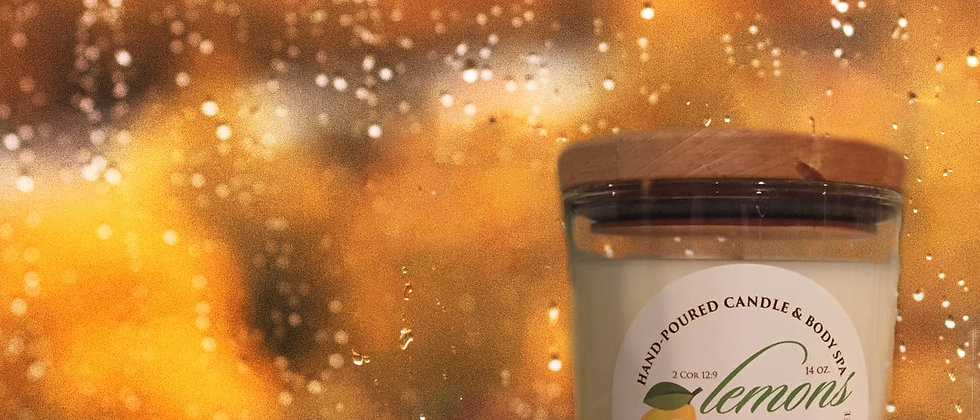 Fresh Rain Scented Body Candle
