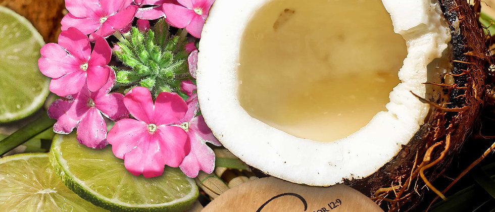 Coconut Lime Verbena Scented Body Candle
