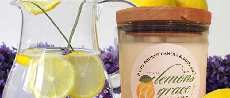 Lemon Lavender Scented Body Candle