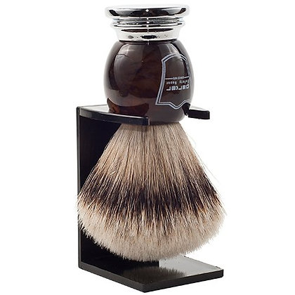 Parker | Genuine Silvertip Badger, Horn Handle