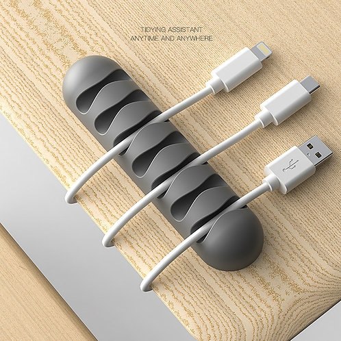Cable Winder Flexible Silicone Cord Management Cable Holder Clips for USB Cable