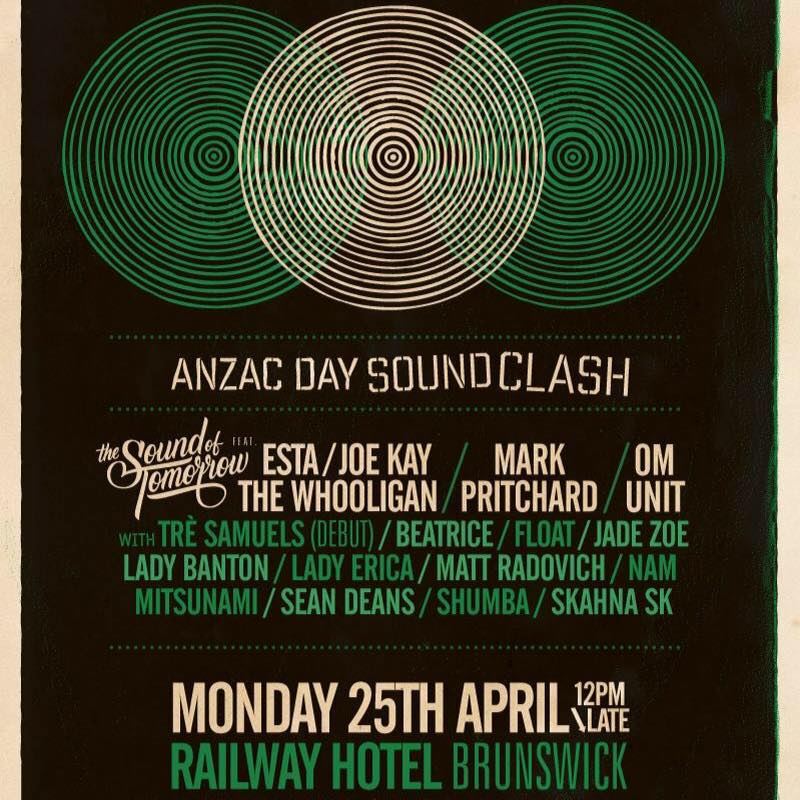 Anzac Day Soundclash 25 April 2016