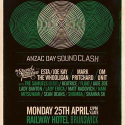 Anzac Day Soundclash 25 April 2016