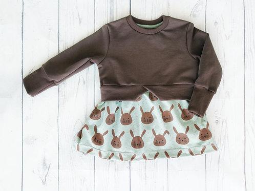 Bio Girly Sweater Häschen - Gr.92