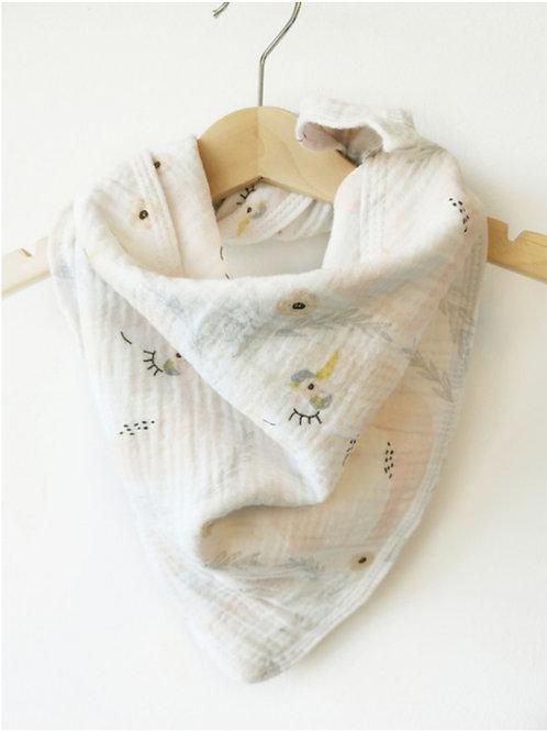 Musselin-Knotenhalstuch Einhorn
