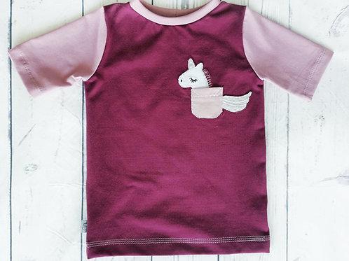 T-Shirt Tascheneinhorn - Gr.104