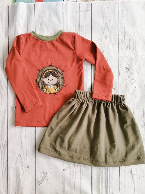 Shirt Klara rostrot - Gr. 98