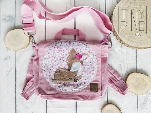 Kindergartentasche Reh rosa