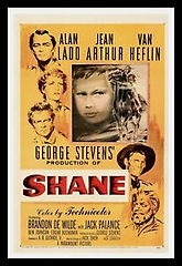 shane movie poster art original