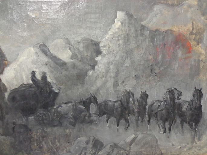 Harry Baker western art pulp
