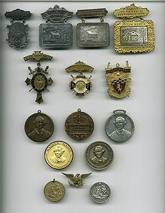 Masonic Medals Joseph Warren Service Towns Maine New York County