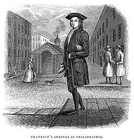 Benjamin Franklin young Philadelphia