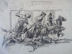 Harry Baker western pulp art