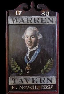 Joseph Warren Tavern Charlestown original sign
