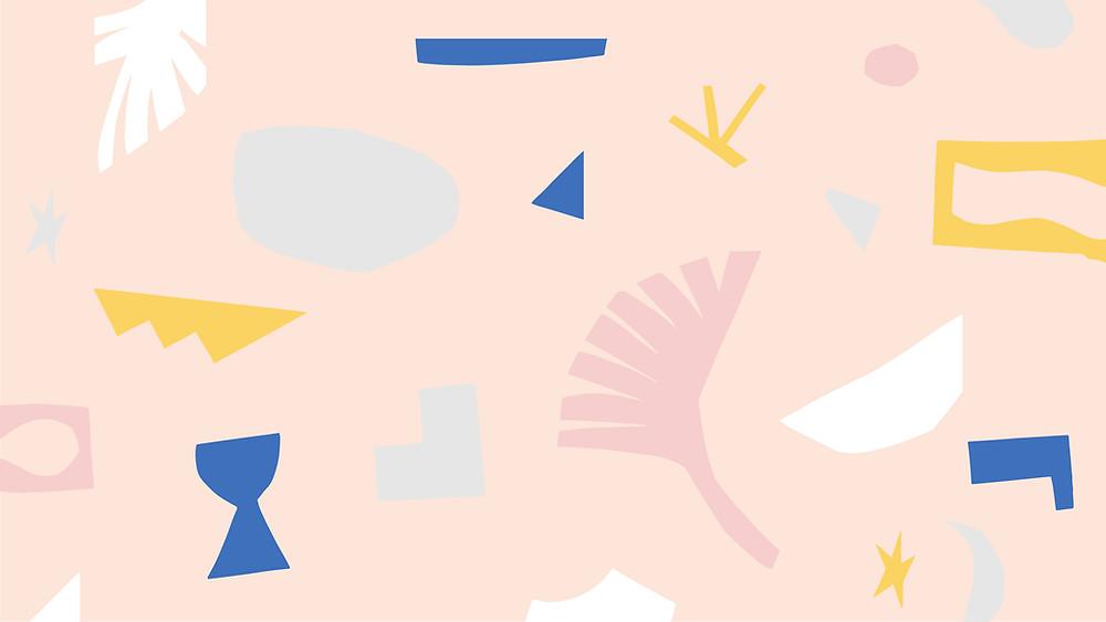 pink wallpaper illustration