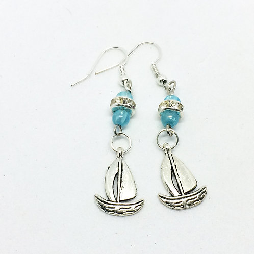 High Society Sailing Boat Drop earrings
