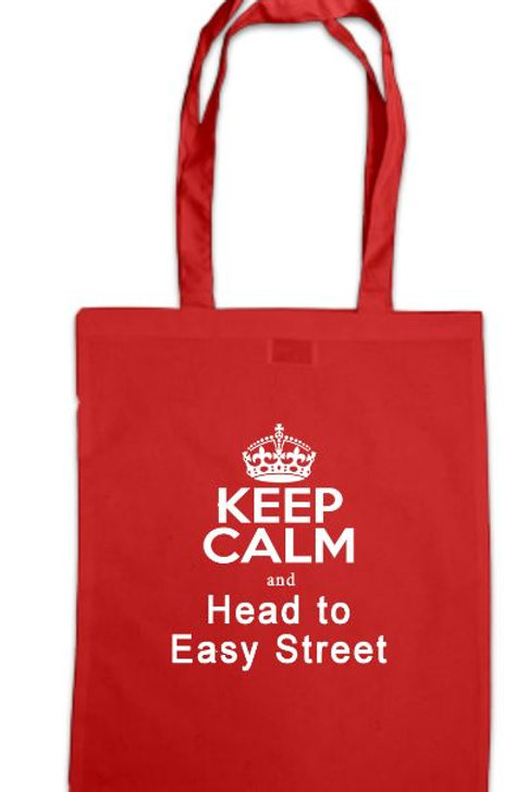 Annie Keep Calm and Head to Easy Street Tote Bag