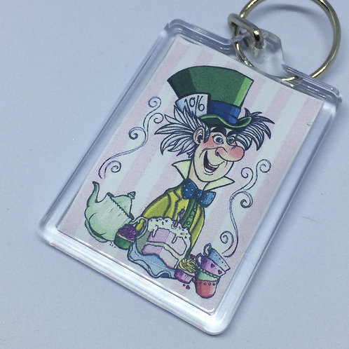 Mad Hatter Double Sided Keyring