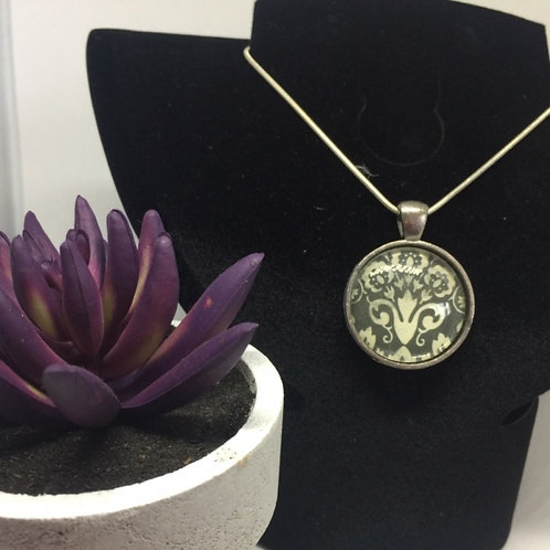 Patterned Round dome pendant