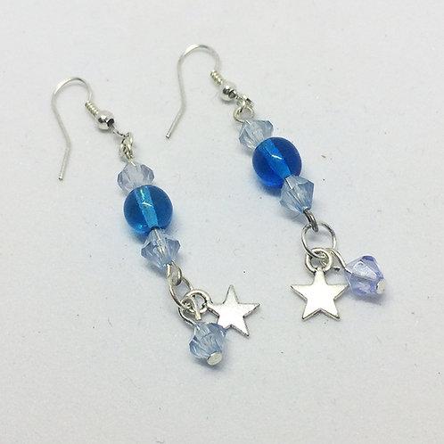 Blue star Drop earrings