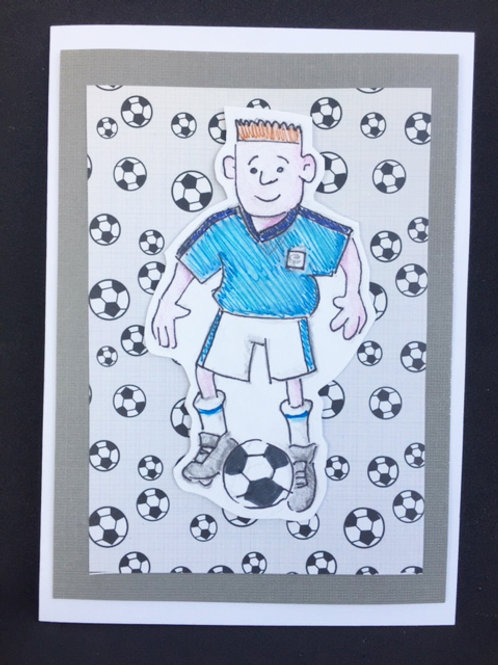 Football boy blank card