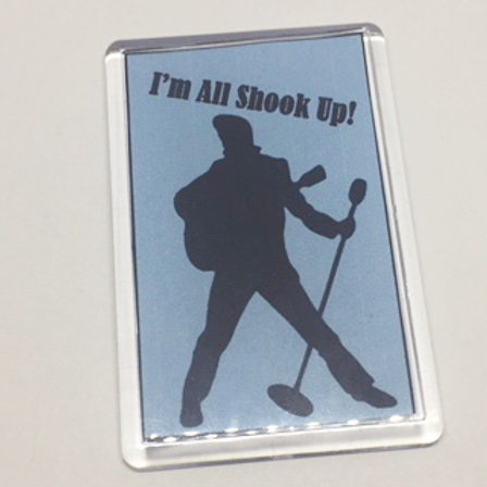 All Shook Up Silhouette fridge magnet