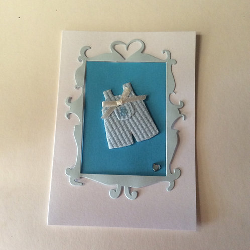 Blue Romper-suit New Baby Boy card