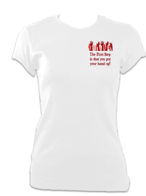 Made in Dagenham Ladies Fitted breast logo T-shirt