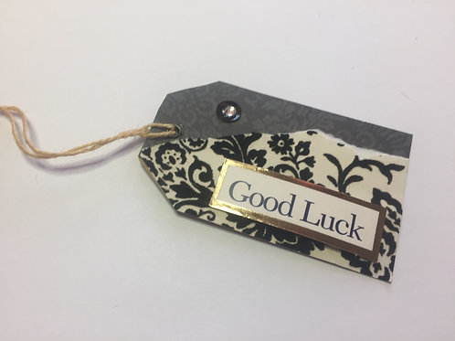 Black Good Luck small Gift tag