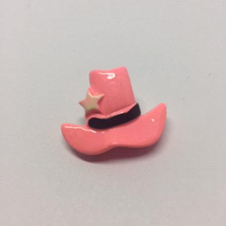 Pink Western Cowboy Hat Lapel Pin