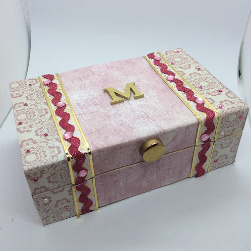 Wooden covered Trinket Box