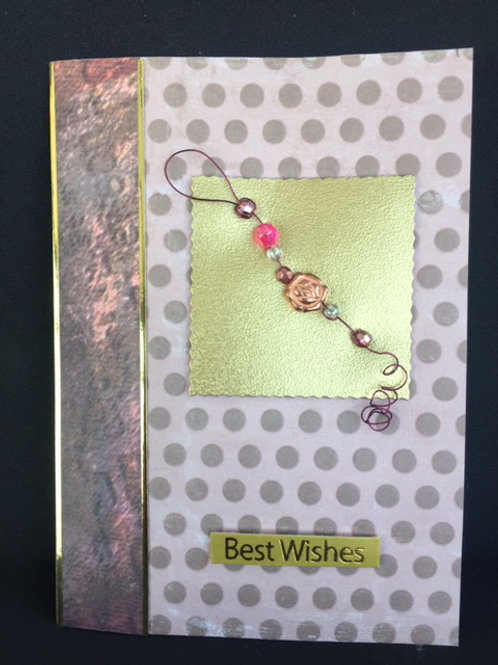 Gold and Bronze 'Best Wishes' card