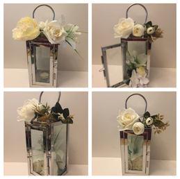 Small Silver lantern 20 x 10cm